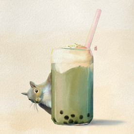 Squirrel and Boba