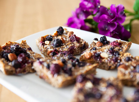 Banana Berry Oat Squares