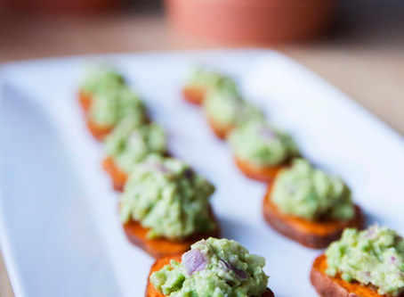 Sweet Potato & Guacamole Bites