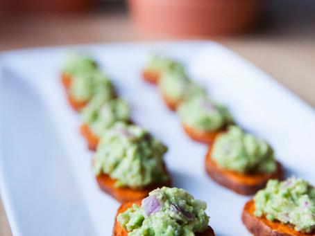 Sweet Potato & Guacamole Bites