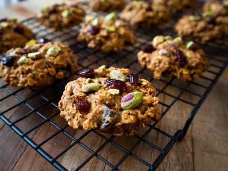 Pistachio Cranberry Oatmeal Cookies