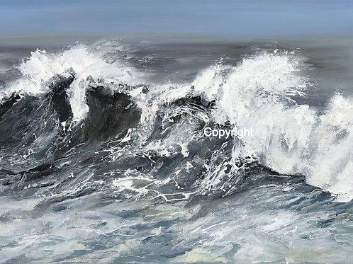 Storm Brendan at Hardee's Bay, Heritage Coastline, Ogmore by Sea