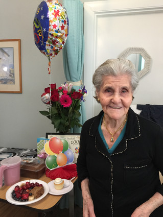 BETTY (MARY) DELANEY & MARIA DIRICO CELEBRATE THEIR 100TH BIRTHDAYS