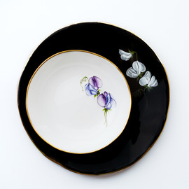 Sweet Peas dinner plate and soup bowl