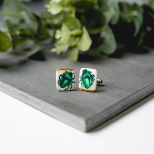 ErikaAbrechtCeramics, handmade, porcelain, cufflinks, green, handpainted.jpg