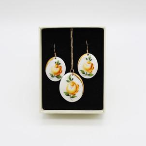 ErikaAlbrecht Ceramics handmade porcelainYellow rose handpainted.JPG