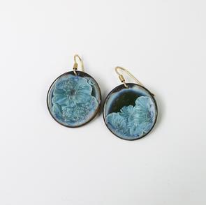 Black porcelain, light blue earrings.JPG