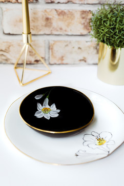 White Lilies dinner plate & soup bowl