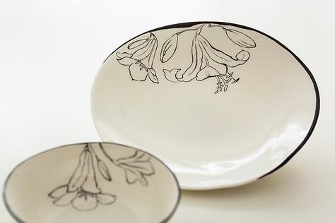 Lillies graphic design plates