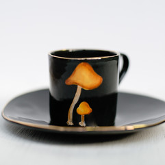 Waxcap mushrooms espresso set