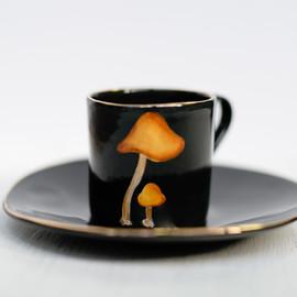 Waxcap mushrooms espresso set