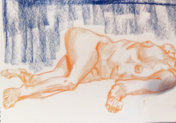 Orange corpse - Life Drawing