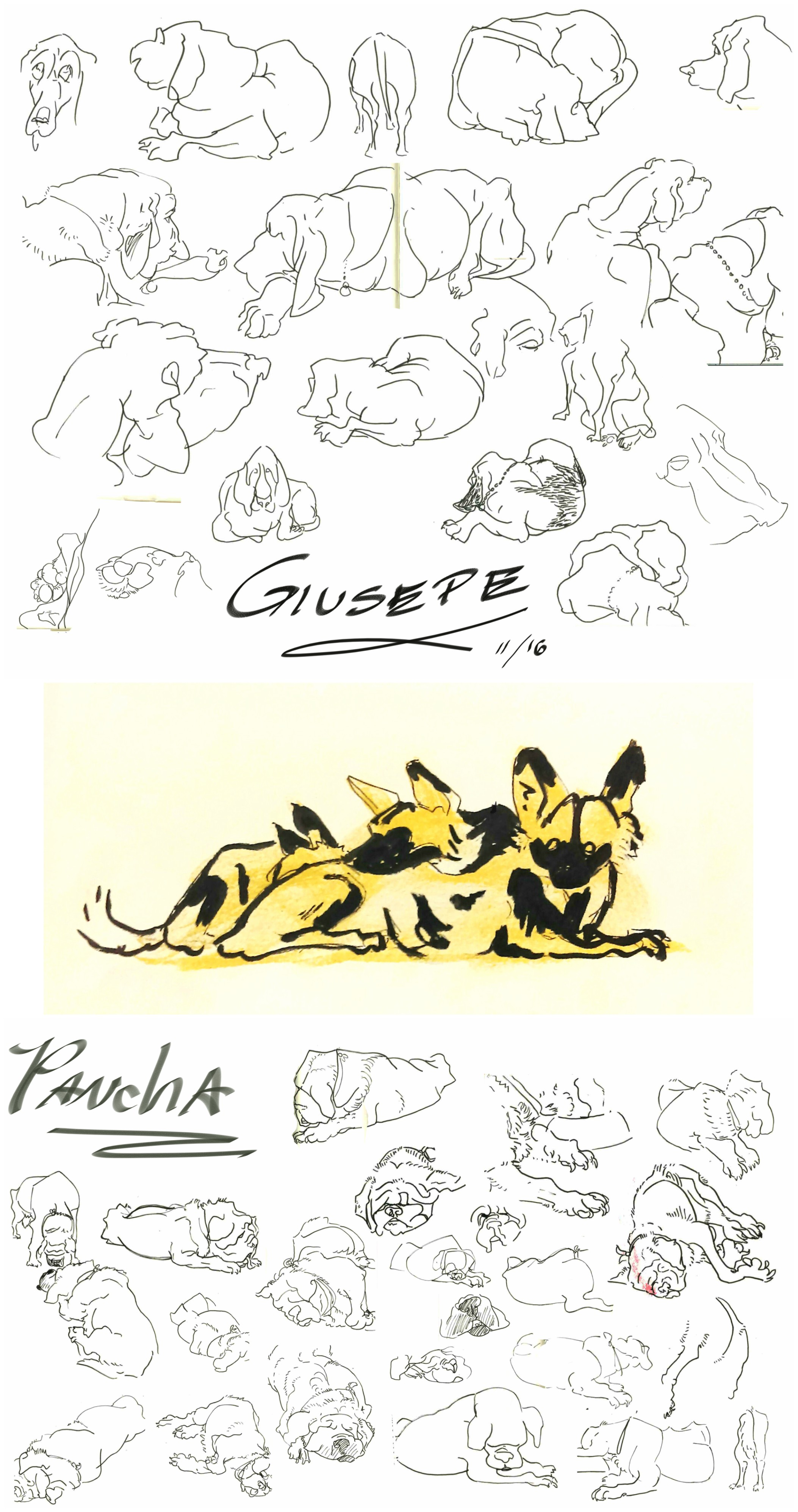 Gesture Drawing - Dogs
