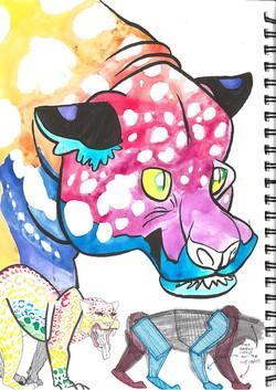 Jaguar sketchbook page
