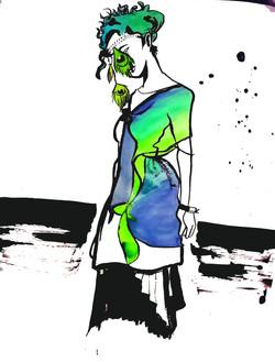 Peacock Dress - Self Portrait
