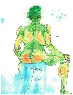 Green man - Life Drawing