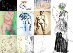 Life Drawing Collage