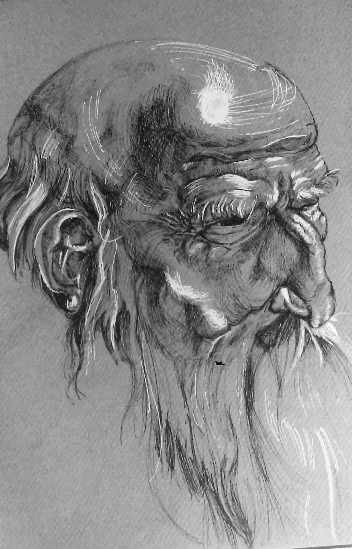 Old man - Ink on paper