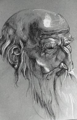 Old man - Ink on paper