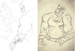 Thor Figure Drawing