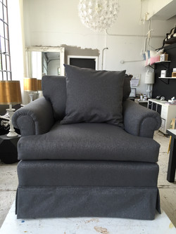 SKIRTED CHAIR REUPHOLSTERY