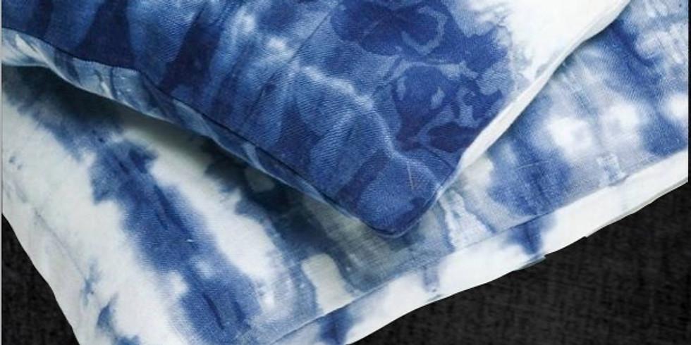 Shibori Indigo Dyeing (pillows)