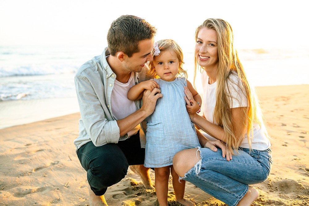 Crystal cove California family photo session, Orange county beach family photography, baby announcement photo