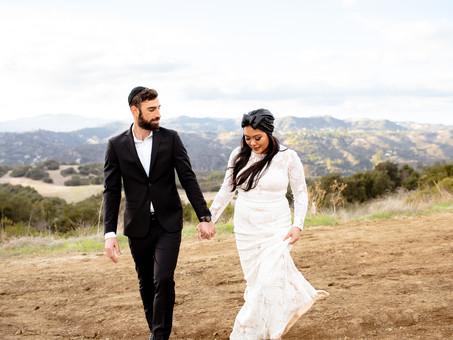 Topanga Canyon Bridal Session - Yael & Shai