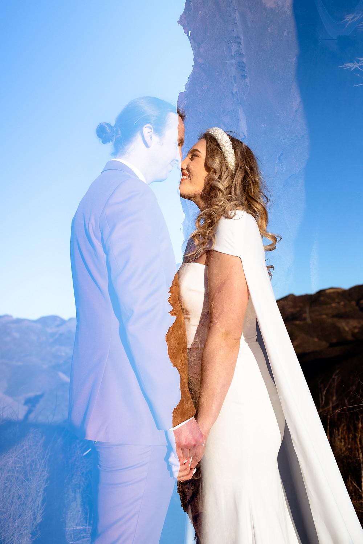 Double Exposure Wedding Photography | Tilt Shift Lens Wedding Photography | Katie B Creative | Bold Wedding Photography | Los Angeles Wedding Photographer
