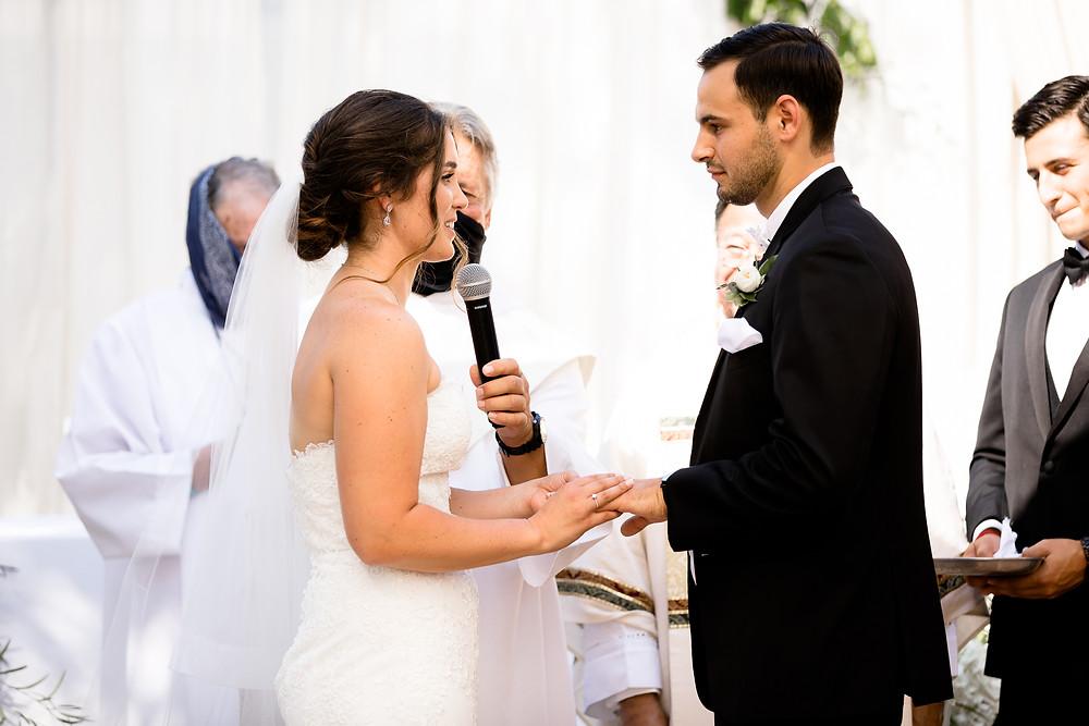 catholic ceremony bride and groom vows