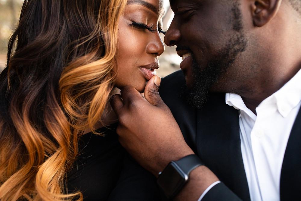 black couple's engagement in charlotte, north carolina