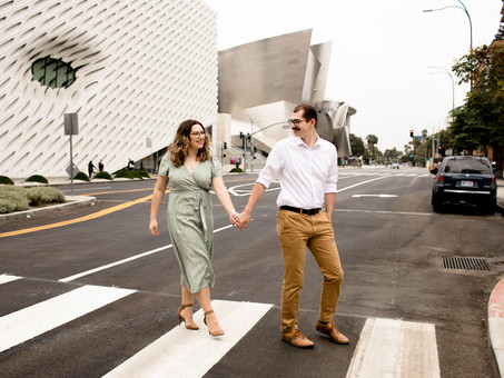 Downtown Los Angeles Engagement - Chloey & Merrill