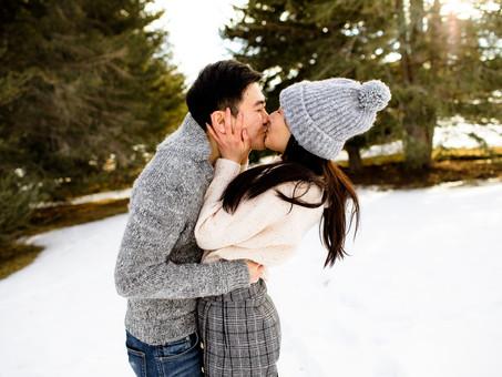 Snowy Park City Couples Session- Ariel & Kevin