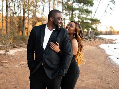 Jetton Park Engagement in Charlotte, NC - Vanessa & Ekene