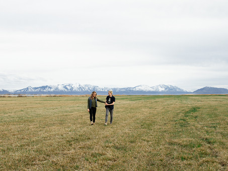 Field & Lake Engagements - Bronwyn & Courtney