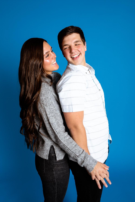cute couple in los angeles studio
