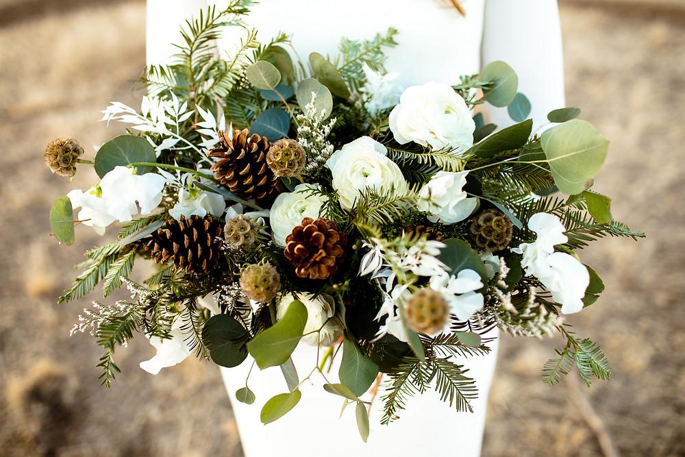 close up shot of lennox floral bouquet