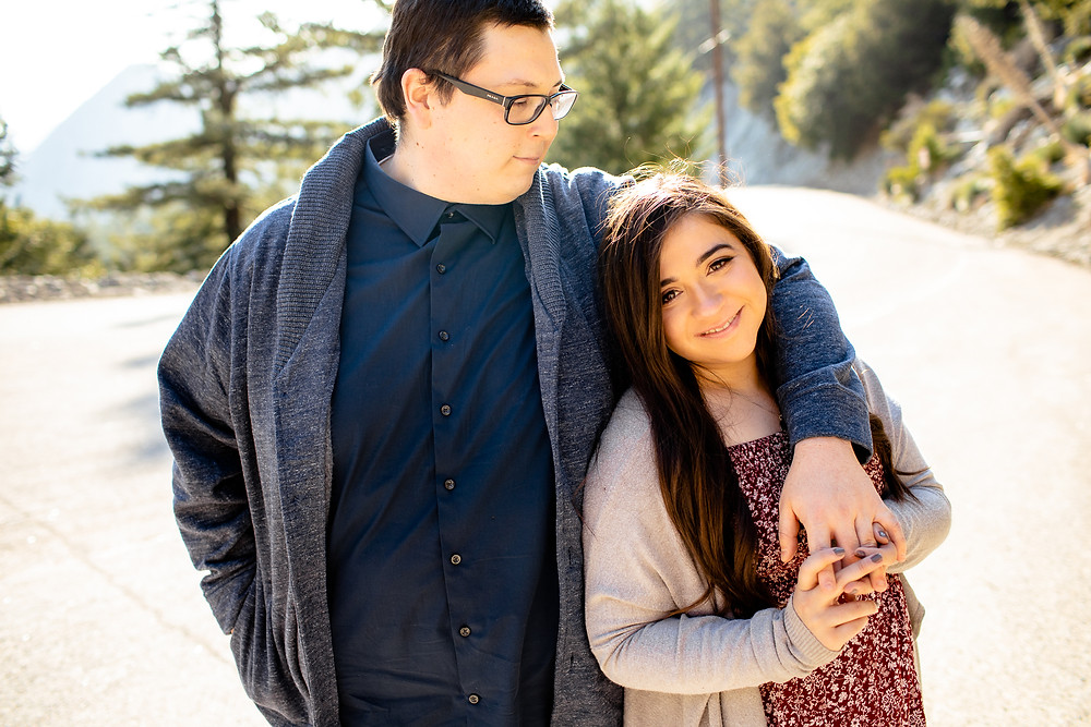 Mount Baldy Engagement photography session with Katie B Creative
