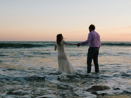 Malibu Sunset Bridals - Charity & Jorgen