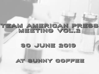6月30日(日)SUNNY COFFEEにて川田童夢バリスタによるアメリカンプレスのセミナー【T.A.P Meeting Vol.2】が開催されました。