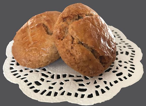 Biscuits à la châtaigne avec confits de citron et d'orange