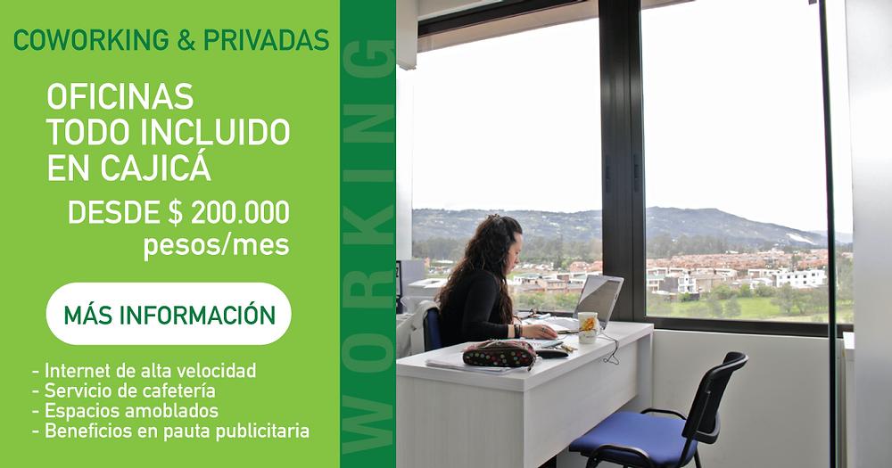 Oficinas en Cajica | Todo Incluido | Coworking