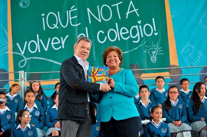 Cajicá educación Juan Manuel Santos