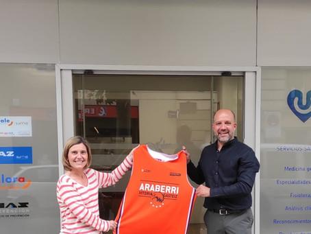 On Salus y Araberri Basket Club firman un acuerdo de patrocinio y colaboración