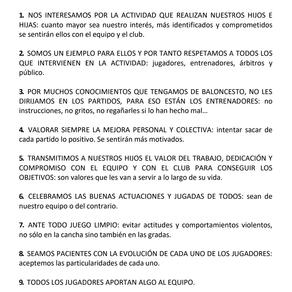 DECÁLOGO DE BUENAS PRÁCTICAS DEPORTIVAS