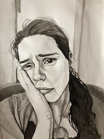 Self Portrait in Ink 2018