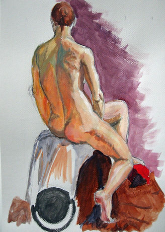 Female Nude-Gouache