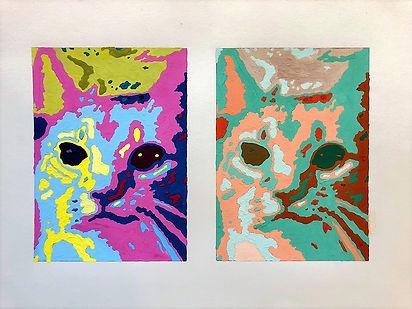 Gouache Cat 2016
