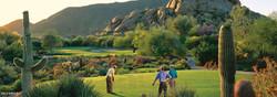 Golfing at Greens