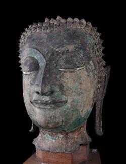 青銅釋迦牟尼佛首